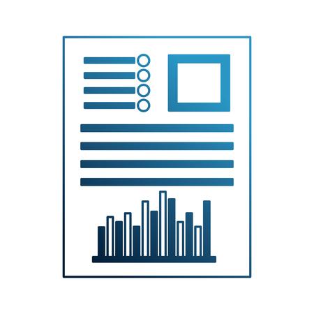 paperwork document bar statistics graph vector illustration Vettoriali