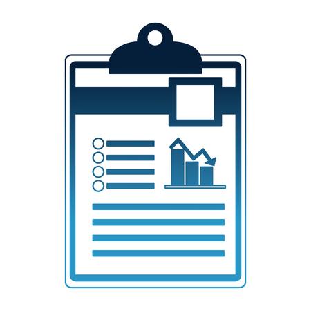 office clipboard report finance document vector illustration Stock Illustratie