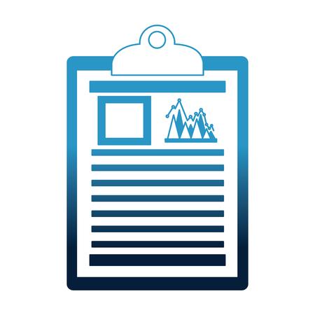 Presse-papiers de bureau rapport financier document vector illustration