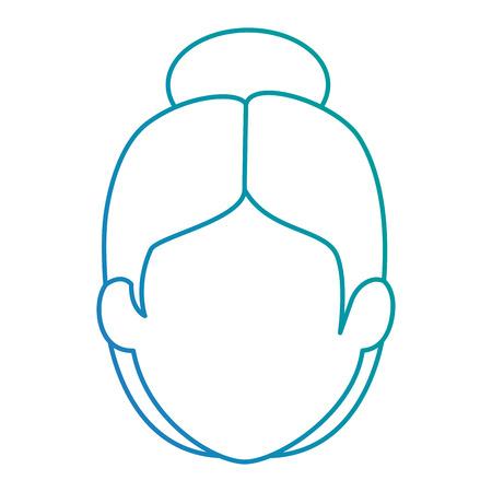 cute grandmother head avatar character vector illustration design  イラスト・ベクター素材