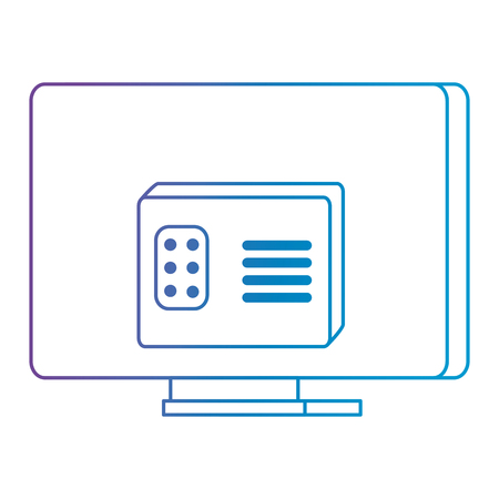 modern tv back isolated icon vector illustration design Imagens - 112389658