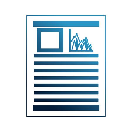 paperwork document bar statistics graph vector illustration