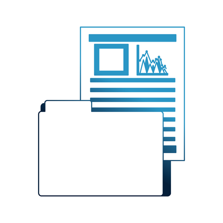 office folder file document report data vector illustration