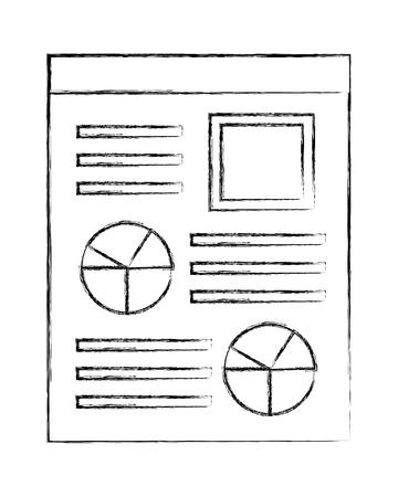 document file with statistics pie graphic icon vector illustration design