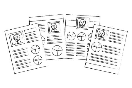 set of curriculum vitae isolated icon vector illustration design Illustration