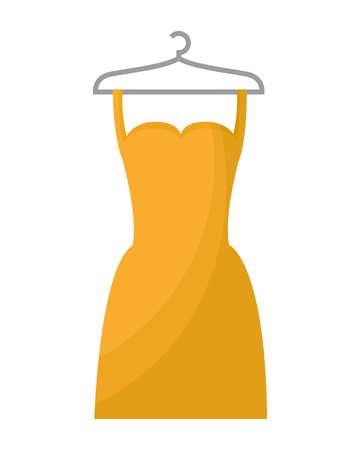 woman dress in wire hook isolated icon vector illustration design Stock Photo