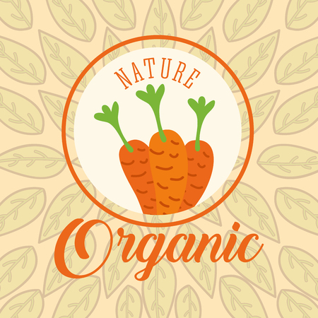 leaves background carrots nature organic vector illustration