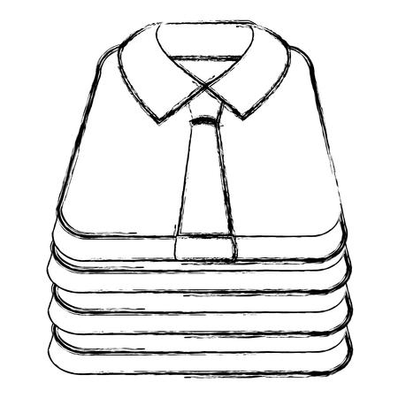 Diseño de ilustración de vector de icono aislado de camisas dobladas Ilustración de vector