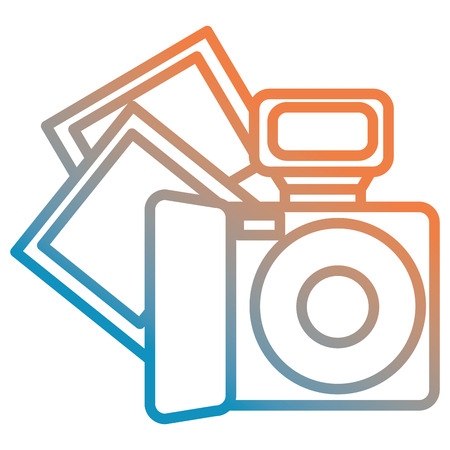 camera photographic with pictures vector illustration design 向量圖像
