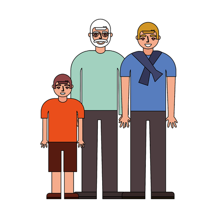 grandfather with son and grandson vector illustration design Imagens - 112390014