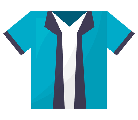 shirt man isolated icon vector illustration design Çizim