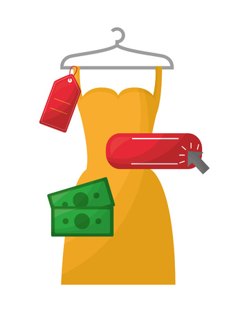 woman dress in wire hook isolated icon vector illustration design Illustration