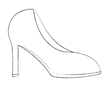 high heeled shoe accessory vector illustration hand drawing Ilustrace