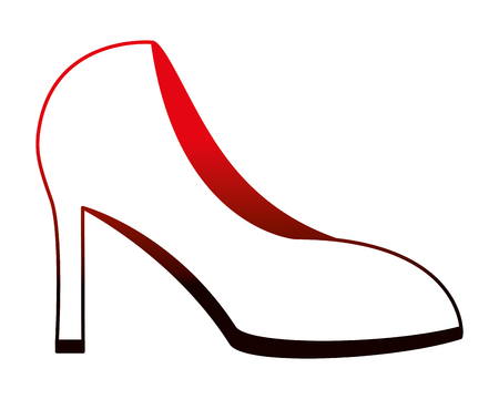 red high heeled shoe accessory vector illustration neon desing 일러스트
