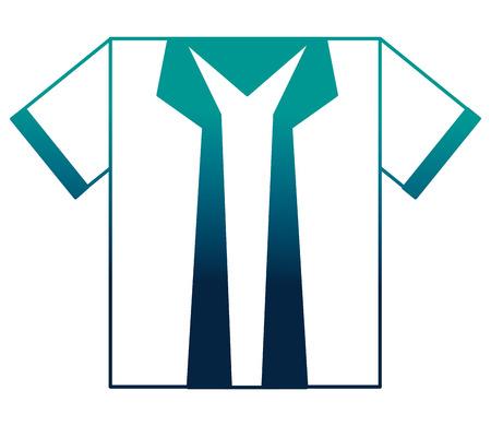 blue shirt accessory fashion icon vector illustration neon desing Stock Photo