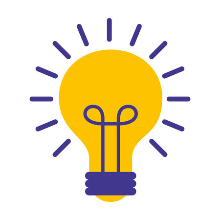 light bulb isolated icon vector illustration design Imagens