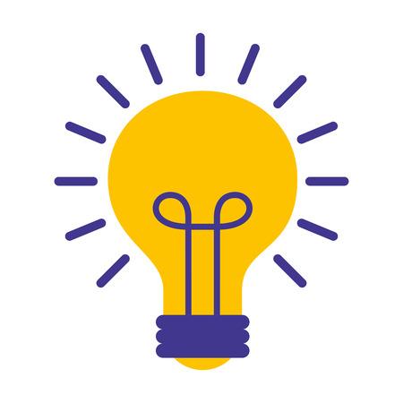 light bulb isolated icon vector illustration design Фото со стока