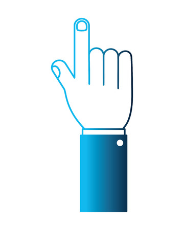 hand human pointing isolated icon vector illustration design