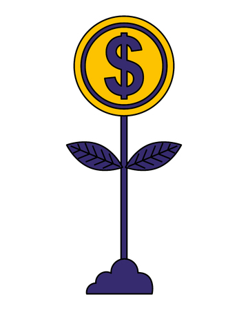plant money isolated icon vector illustration design