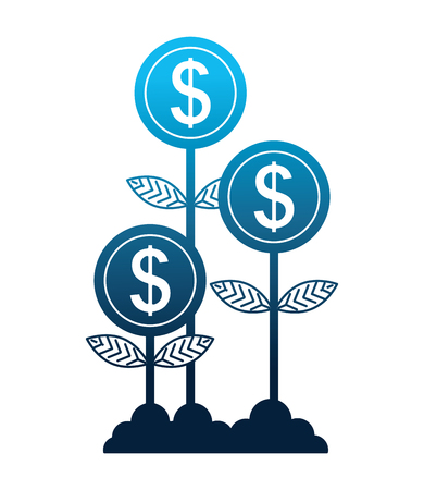 plants money isolated icon vector illustration design