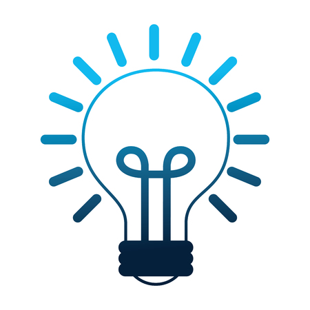 light bulb isolated icon vector illustration design Çizim