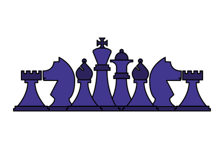 set chess pieces isolated icon vector illustration design 일러스트