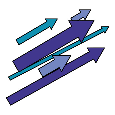Conjunto de flechas con dirección hacia arriba, diseño de ilustraciones vectoriales