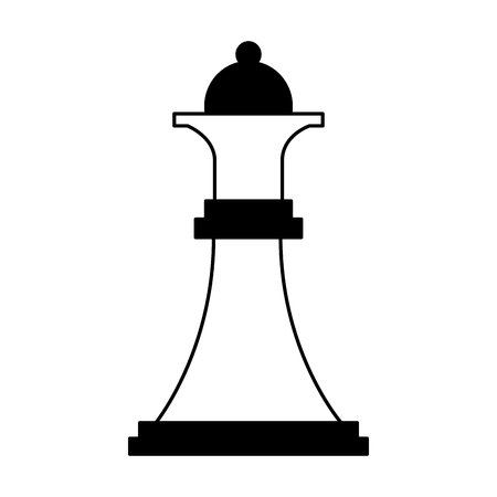 queen chess piece isolated icon vector illustration design