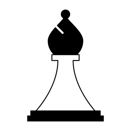 bishop chess piece isolated icon vector illustration design