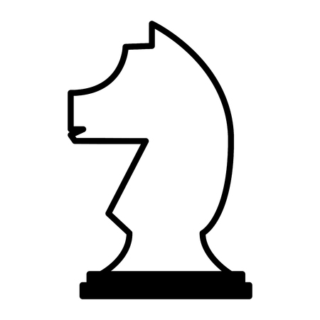 horse chess piece isolated icon vector illustration design