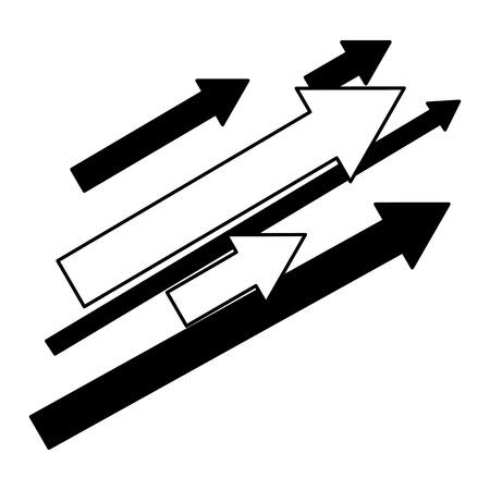 set di frecce con direzione verso l'alto illustrazione vettoriale design