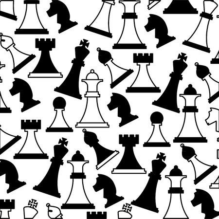 set chess pieces icon pattern vector illustration design 스톡 콘텐츠 - 112326582