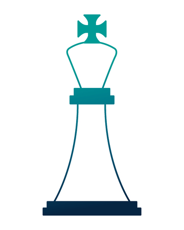 king chess piece isolated icon vector illustration design
