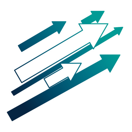 ensemble de flèches avec direction vers le haut de la conception d'illustration vectorielle Vecteurs