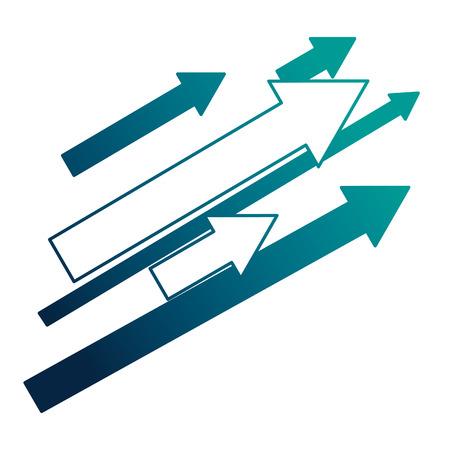 set di frecce con direzione verso l'alto illustrazione vettoriale design Vettoriali