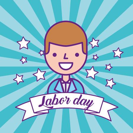 businessman employee manager labor day vector illustration Zdjęcie Seryjne
