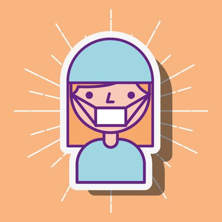 nurse staff medical cartoon character vector illustration Stock Vector - 112326628
