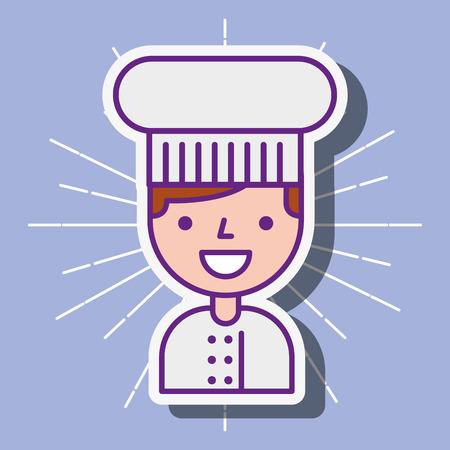 chef cartoon character employee portrait vector illustration Illustration
