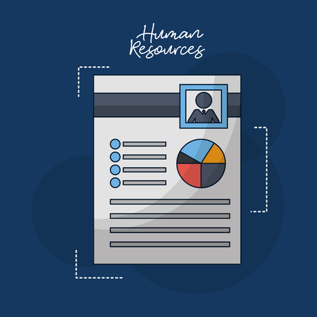 human resources resumen person focus vector illustration