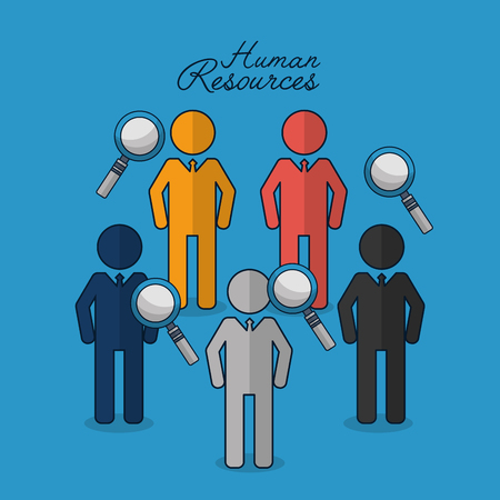 human resources search employed recruited vector illustration
