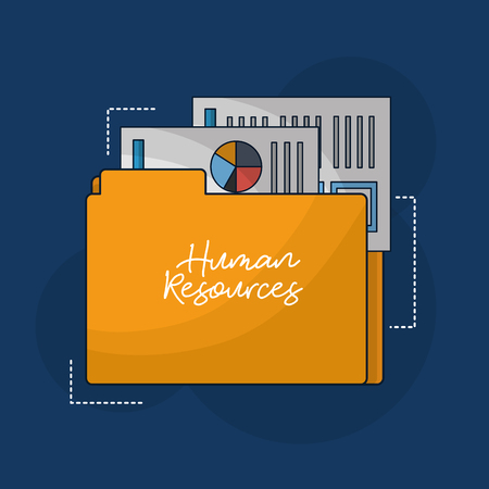 human resources folder resumen documents vector illustration