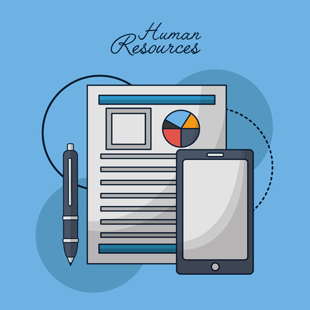 human resources contract person smartphone vector illustration Illustration