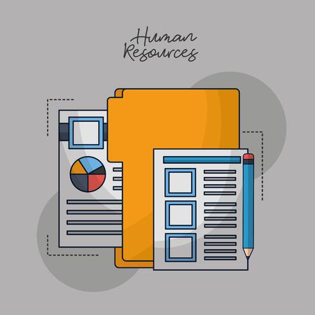 human resources folder contract documents vector illustration Foto de archivo - 112326768