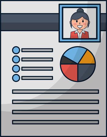 human resources curriculum person document vector illustration Ilustração