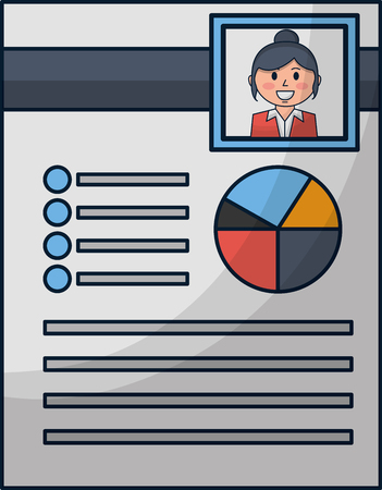 human resources curriculum person document vector illustration Illustration