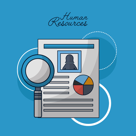 human resources resumen search employed vector illustration
