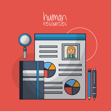 human resources curriculum search employed contract vector illustration