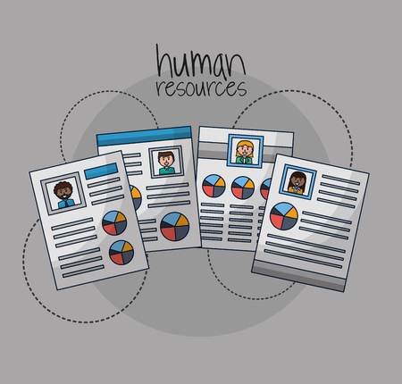 human resources curriculum people search employed vector illustration
