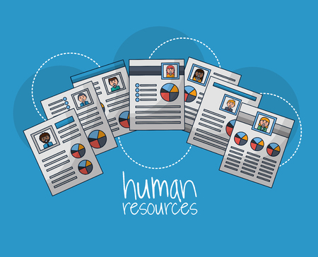 human resources colors curriculum people vector illustration