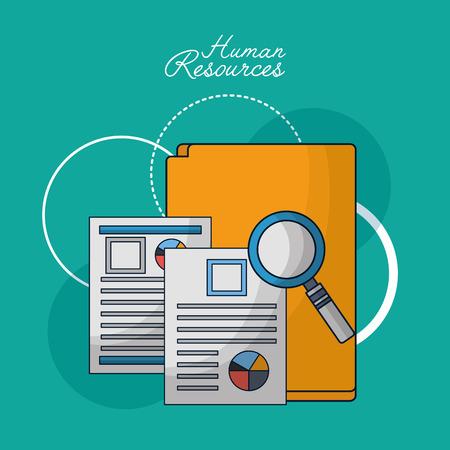 human resources folder resumen search employed vector illustration Stock fotó